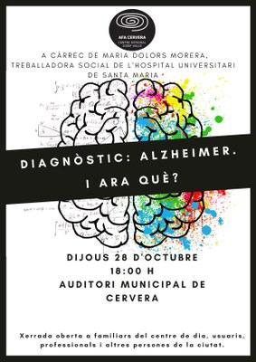 """Xerrada """"Diagòstic: Alzheimer. I ara què?"""""""