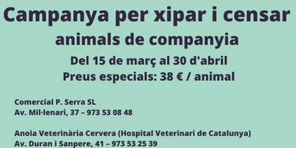 Campanya d'identificació d'animals de companyia