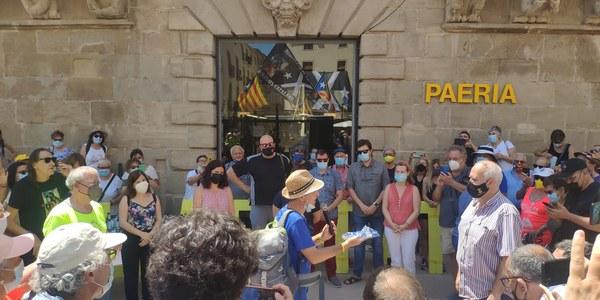 """Cervera rep el conseller Jordi Turull en la """"Travessa per la Llibertat"""""""