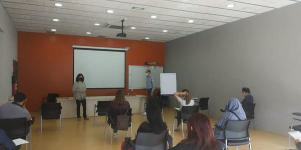 La regidora de Promoció Econòmica, Mercè Carulla, va presentar la sessió.