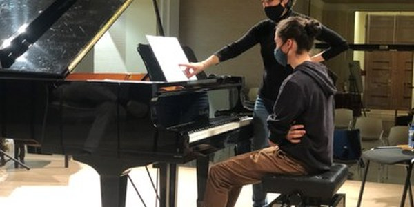 Classes magistrals d'Alba Ventura als pianistes del Conservatori de Música de Cervera