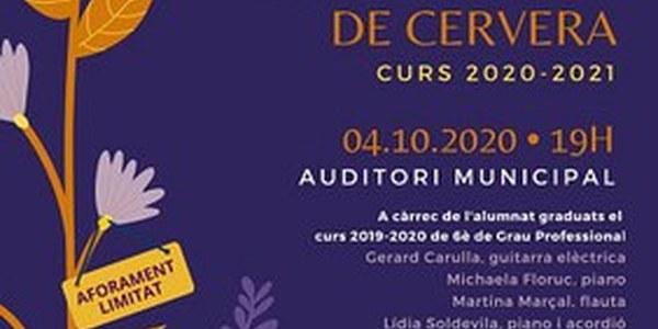 Concert inaugural del nou curs acadèmic del Conservatori