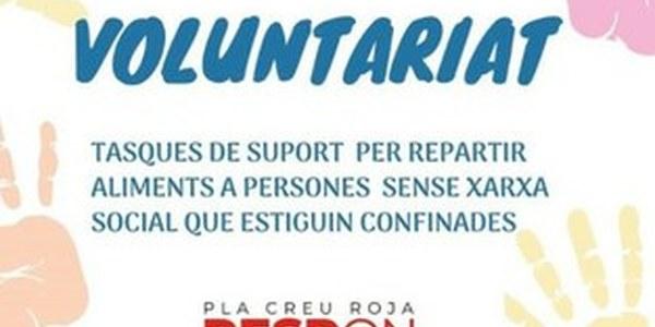 Creu Roja busca voluntariat per al Projecte Respon