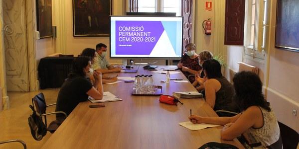 Reunió de la Comissió Permanent del Consell Escolar Municipal.