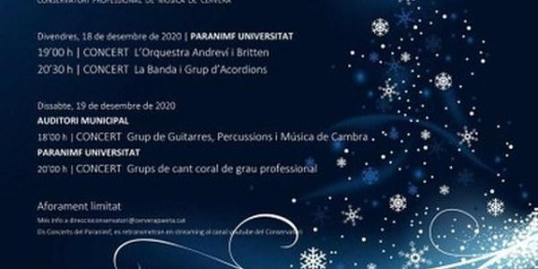 El Conservatori organitza els concerts de Nadal adaptats als nous temps