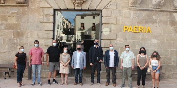 El delegat del Govern, Bernat Solé, visita la Paeria de Cervera