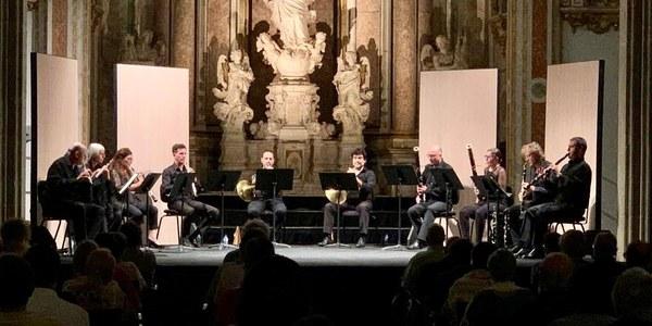 Concert dels vents de l'OJC, al Paranimf de la Universitat (foto Jordi Prat).