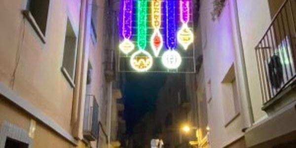Encesa de l'enllumenat de Nadal a Cervera
