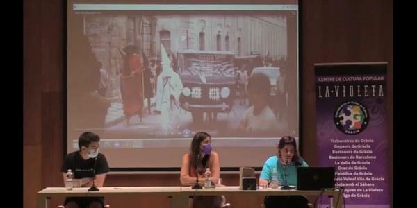 L'Aquelarre de Cervera, en una xerrada al Centre de cultura popular La Violeta