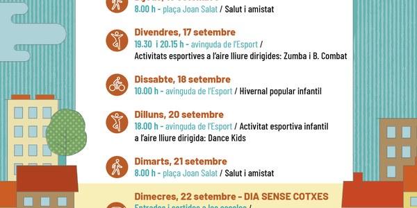 Actes de la Setmana Europea de la Mobilitat a Cervera.