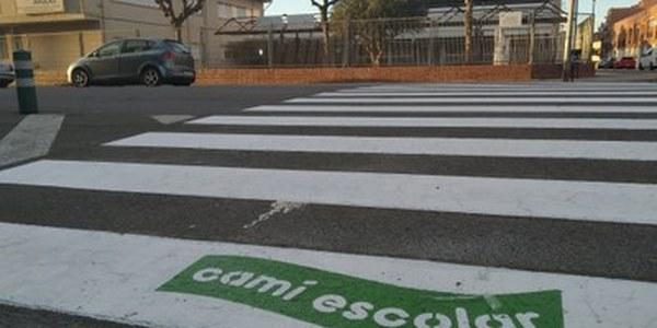 Millora en la senyalització de camins escolars a Cervera