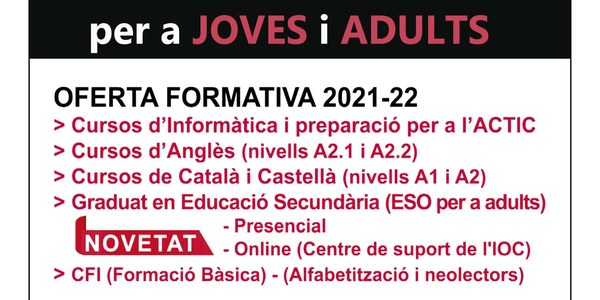 Oferta formativa curs 2021-2022.