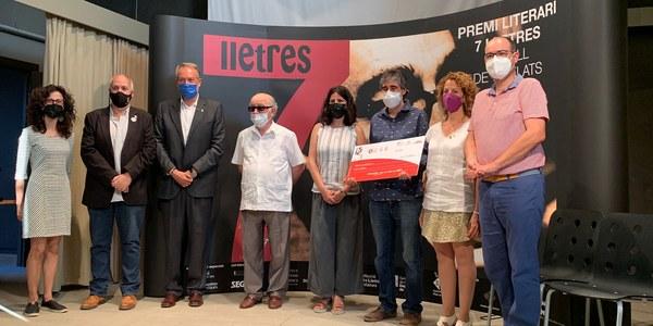 Lliurament del premi literari 7Lletres, al Castell de Concabella.