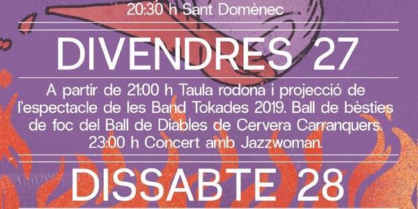 Cartell dels actes de l'Aquelarre 2021 (disseny: Roger Farré).