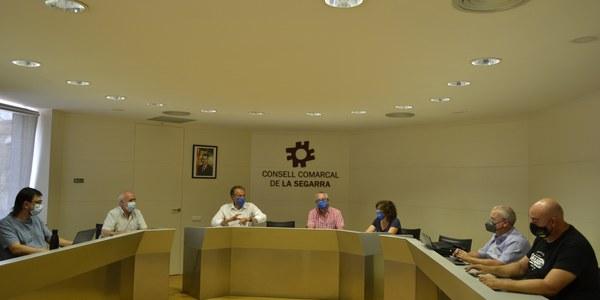 Reunió al Consell Comarcal per la recollida de deixalles al municipi