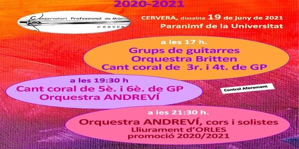 Concert de les orquestres i grups de guitarres del Conservatori