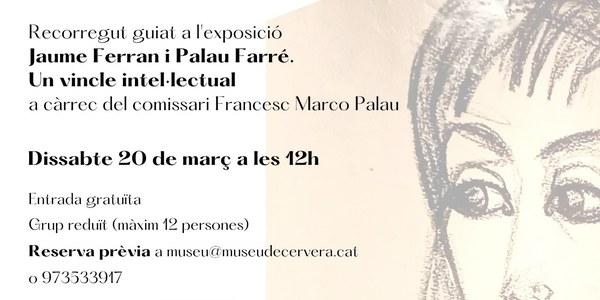 """Visita d'autor a l'exposició """"Jaume Ferran i Palau Ferré. Un vincle intel·lectual"""""""