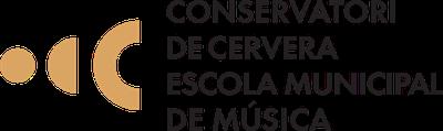 Escut Conservatori Professional i Escola de Música de Cervera.