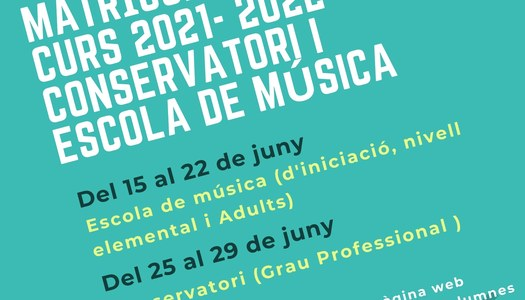 Matrícula oberta curs 2021-22